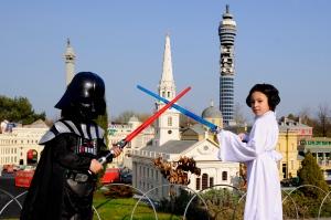 Star Wars weekend at LegoLand Windsor Resort. Windsor. Britain.